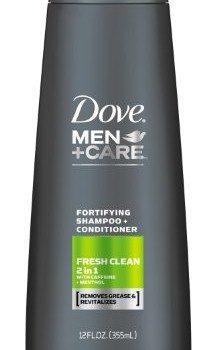 Dove Men+Care Fresh Clean 2 in 1 Shampoo + Conditioner 12 Ounce image