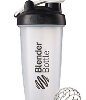BlenderBottle Classic Loop Top Shaker Bottle, Clear Black, 28 Ounce image
