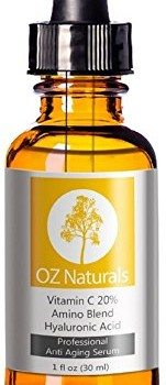 OZ Naturals – THE BEST Vitamin C Serum For Your Face – Organic Vitamin C + Amino + Hyaluronic Acid Serum- Clinical Strength 20% Vitamin C with Vegan Hyaluronic Acid Leaves Your Skin Radiant & More Youthful By Neutralizing Free Radicals. This Anti Aging Serum Will Finally Give You The Results You've Been Looking For! image