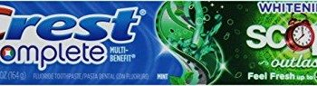 Crest Complete Multi-Benefit Whitening with Scope Outlast Long Lasting Mint Flavor Toothpaste, 5.8 oz. image