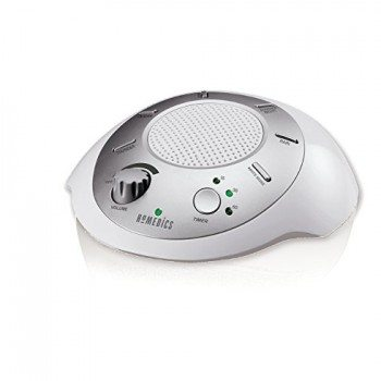 HoMedics SS-2000G/F-AMZ Sound Spa Relaxation Machine with 6 Nature Sounds, Silver image