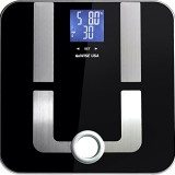 GoWISE USA Slim Digital Bathroom Scale – Measures Weight, Body Fat, Water, & Bone Mass 400 Lbs Capacity Tempered Glass GW22027 thumbnail