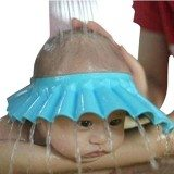 Susen Safe Shampoo Shower Bathing Protect Soft Cap Hat for Baby Children Kids (Blue) thumbnail