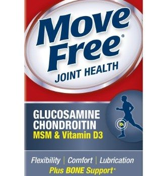Move Free Glucosamine Chondroitin MSM Vitamin D3 and Hyaluronic Acid Joint Supplement, 80 Count image