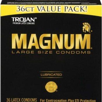 Trojan Condom Magnum Lubricated, 36 Count image