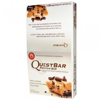 Quest Protein Bars – Chocolate Chip Cookie Dough – 2.12 Oz – pack Of 12 image