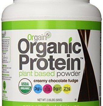 Orgain Organic Protein Plant-Based Powder, Creamy Chocolate Fudge, 2.03 Pound image