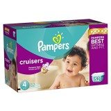 Pampers Cruisers Diapers Size 4 Economy Pack Plus 152 Count thumbnail
