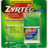 Zyrtec Allergy Relief Tablets, 70 Count thumbnail