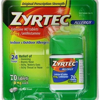Zyrtec Allergy Relief Tablets, 70 Count image