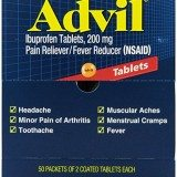 Advil Tablets Pain Reliever Refill,200 mg, 50 Two-Packs per Box thumbnail