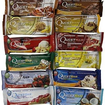 Quest Nutrition – Quest Bar Variety 2.12 ounce bar (12 Bars) (Items may come in a box indicating a single flavor, but items inside are a variety pack) image