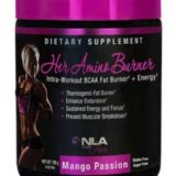NLA for Her Her Amino Burner Intra-Workout BCAA Fat Burner + Energy Supplement, Mango Passion, 0.43 Pound thumbnail