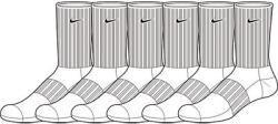 Nike Men's Performance Cotton Cushioned Crew Socks Six Pair image