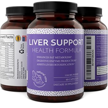 Liver Detox And Cleanse – Hangover Cure – Contains Milk Thistle + Dandelion + Artichoke + Yarrow + Jujube + Chanca Piedra – Liver Support Supplements For Men And Women By Natural Vore image