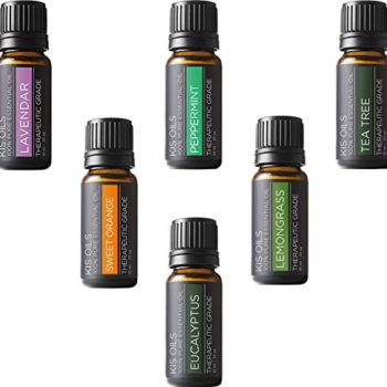 Aromatherapy Top 6 100% Pure Therapeutic Grade Basic Sampler Essential Oil Gift Basic sampler essential oil gift set 6/10ml (lavender, sweet orange, peppermint, lemongrass, tea tree, eucalyptus) image