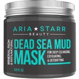Aria Starr Beauty Dead Sea Mud Mask For Face, Acne, Oily Skin & Blackheads – Best Facial Pore Minimizer, Reducer & Pores Cleanser Treatment – 100% Natural For Younger Looking Skin 8.8oz thumbnail