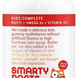 SmartyPants Kids Complete Gummy Vitamins: Multivitamin & Omega 3 DHA/EPA Fish Oil, Methylfolate, Methyl B12, Vitamin D3, 120 count (30 Day Supply) thumbnail