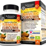Turmeric Curcumin with Bioperine 1500mg. Highest Potency Available. Premium Pain Relief & Joint Support with 95% Standardized Curcuminoids. Non-GMO, Gluten Free Turmeric Capsules with Black Pepper thumbnail