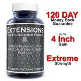 Testosterone Boosting Male Penis Enlarger Thicker Longer Bigger 4″ Inch Growth Enlargement Pills Increase Size, Stamina, and Energy Extensions II Improved Formula thumbnail