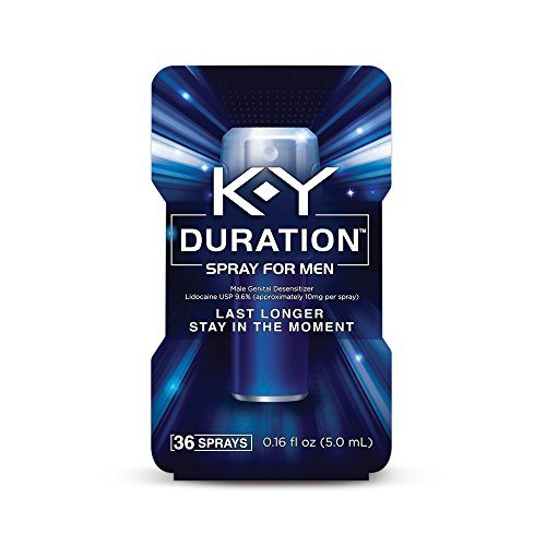 K-Y Duration Spray for Men – Last Longer and Stay in the Moment, 36 sprays / 0.16 fl oz, Also available in 100 sprays, 0.36 fl oz image