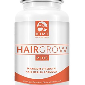 Hair Grow Plus – Scientifically Formulated Hair Growth Supplement with Biotin, All Natural Hair Vitamin Supplement Stimulates Healthy Hair in Both Men and Women, Made in the USA image