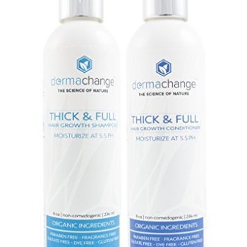 Organic Hair Growth Shampoo and Conditioner Set – Volumizing and Moisturizing – Sulfate Free – Hair Regrowth Products With Vitamins – Stop Hair Loss – Curly or Color Treated Hair – For Woman and Men image