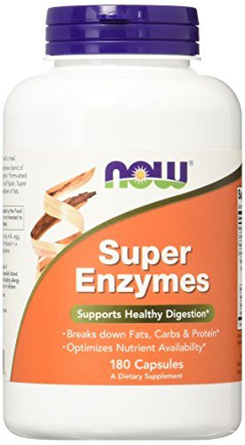 NOW Super Enzymes,180 Capsules image