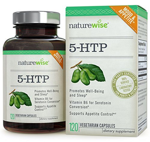 NatureWise 5-HTP 100 mg – Supports Appetite Suppression, Mood, Stress, and Sleep, 120 Vegetarian Capsules image