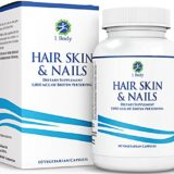 Hair Skin and Nails Vitamins – Supports Hair Growth & Restoration – Biotin 5,000 mcg – Unique Extra Strength Formula with 60 Vegetarian Capsules thumbnail