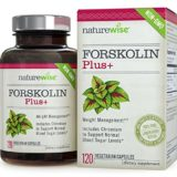 NatureWise Forskolin Plus+ for Weight Loss with Chromium for Healthy Blood Sugar Support, Coleus Forskohlii Supplement, 250 mg, 120 count thumbnail
