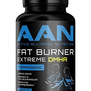 AAN's Fat Burner EXTREME DMHA – Energy Booster, Weight Loss / Stubborn Belly Fat, Thermogenic Pills – Green Coffee Bean, Eria Jarensis, Yohimbe, Caffeine, Multi Vitamin (30 Servings) (60 Capsules) image