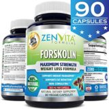 100% Pure Forskolin Extract with 40% Standardized Forskolin, 90 Capsules, 300 mg, Appetite Suppressant, MAX Strength Belly Fat Burner, Carb Blocker, Natural Weight Loss Supplement thumbnail
