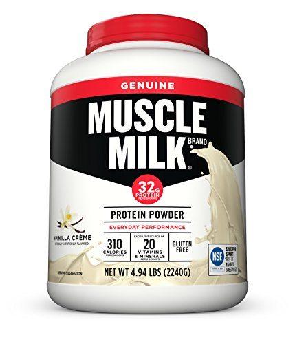 Muscle Milk Genuine Protein Powder, Vanilla Crème, 32g Protein, 4.94 Pound image