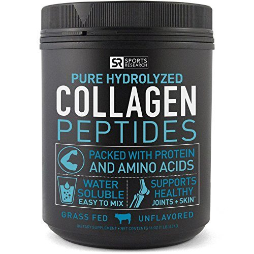 Premium Collagen Peptides (16oz) | Grass-Fed, Certified Paleo Friendly, Non-Gmo and Gluten Free – Unflavored and Easy to Mix image