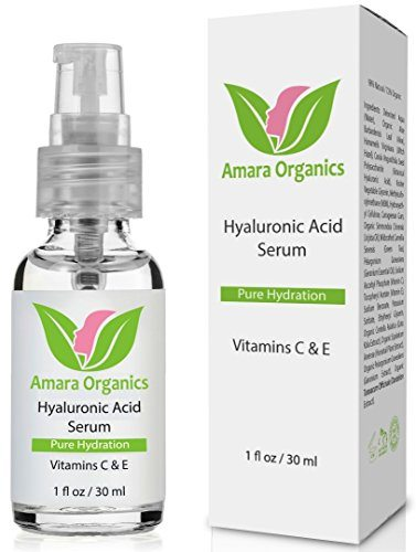Amara Organics Hyaluronic Acid Serum for Skin with Vitamin C & E, 1 fl. oz. image