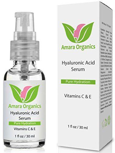 Amara Organics Hyaluronic Acid Serum for Skin with Vitamin C & E, 1 fl. oz. image